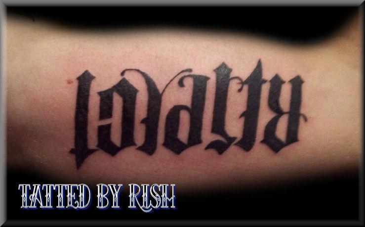 ambigram tattoos photo - 50