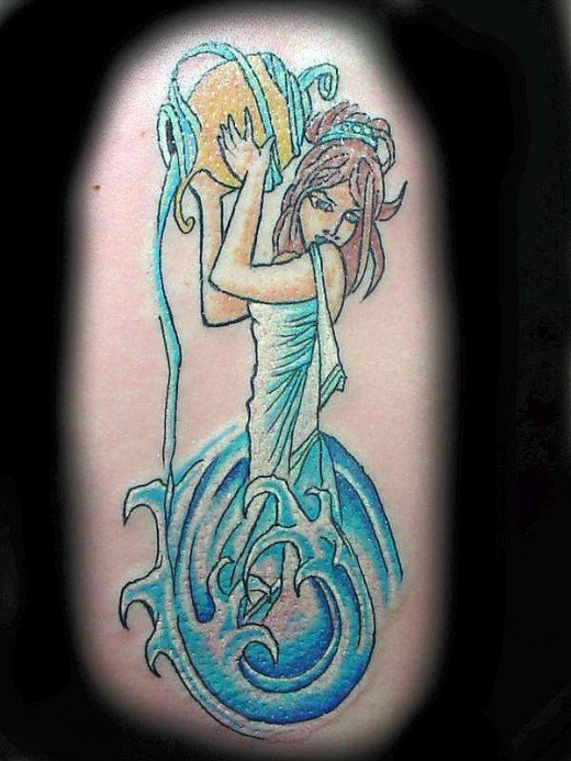 aquarius tattoos photo - 15