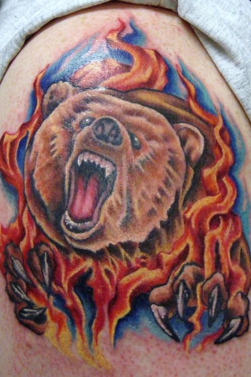 bear tattoos photo - 7