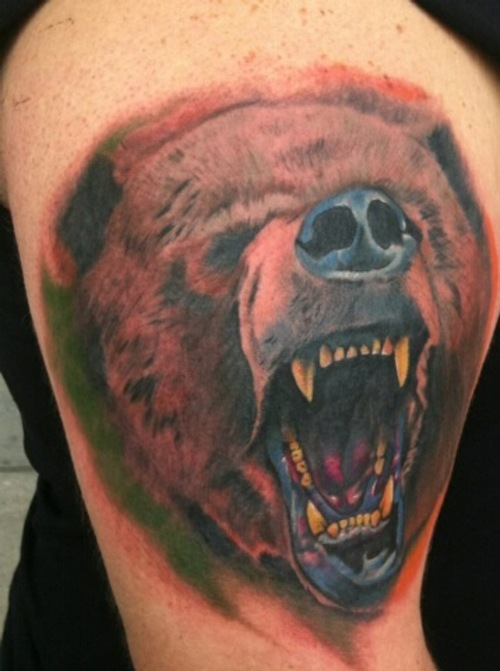 bear tattoos photo - 8