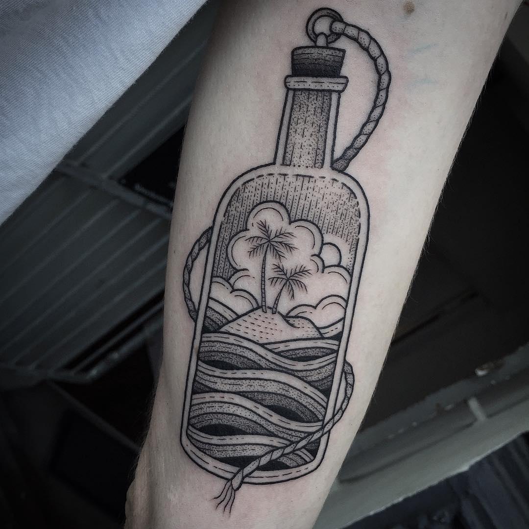 bottle tattoos photo - 28