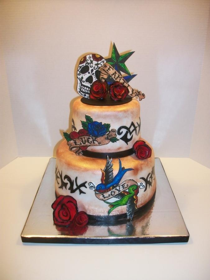 cake tattoos photo - 14