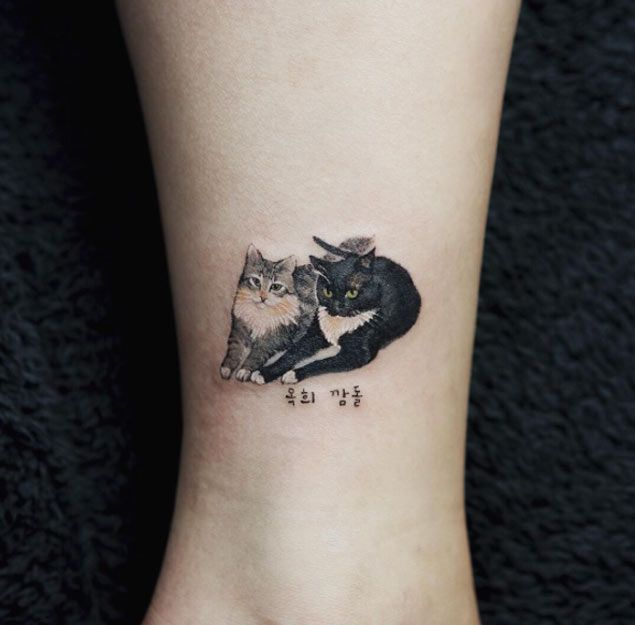 cat tattoos photo - 36
