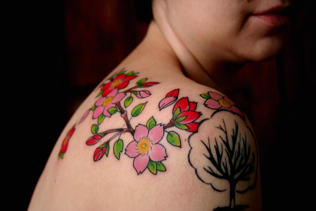 cherry blossom tattoos photo - 10