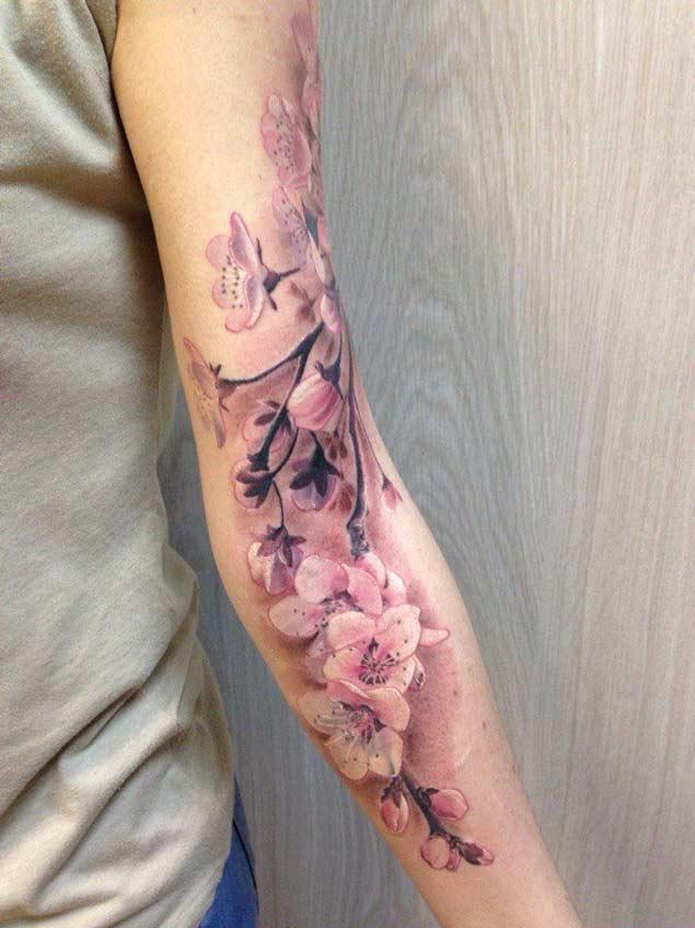 cherry blossom tattoos photo - 15