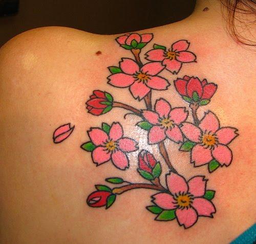 cherry blossom tattoos photo - 16
