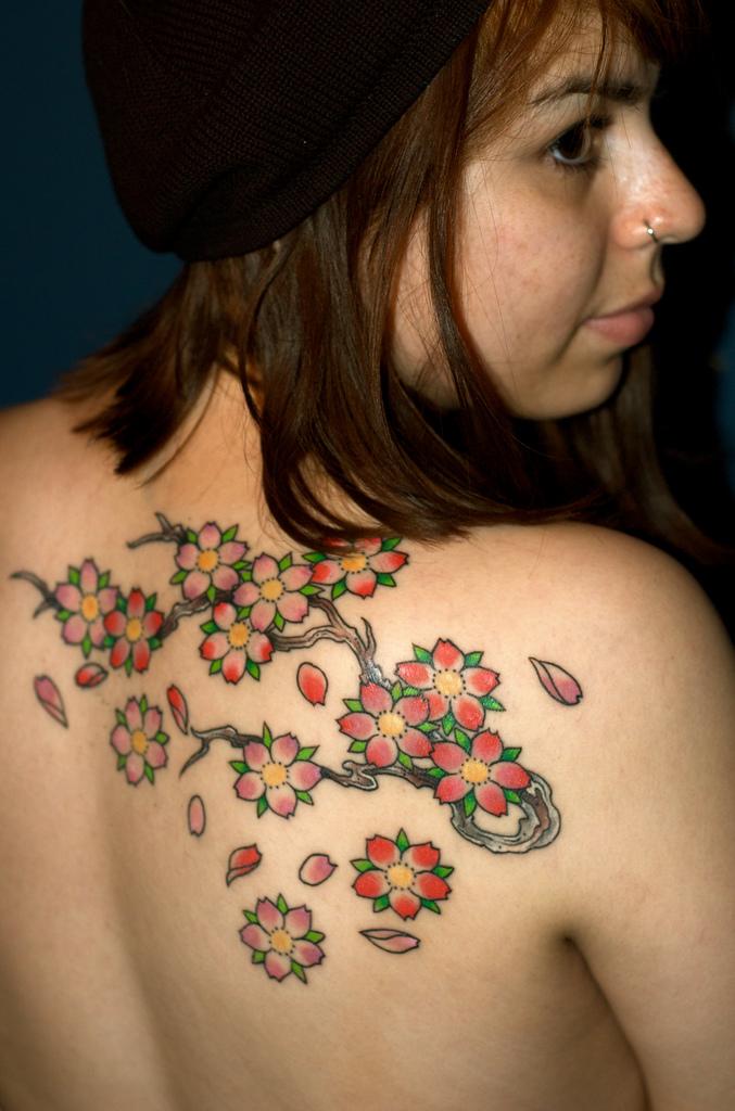 cherry blossom tattoos photo - 17