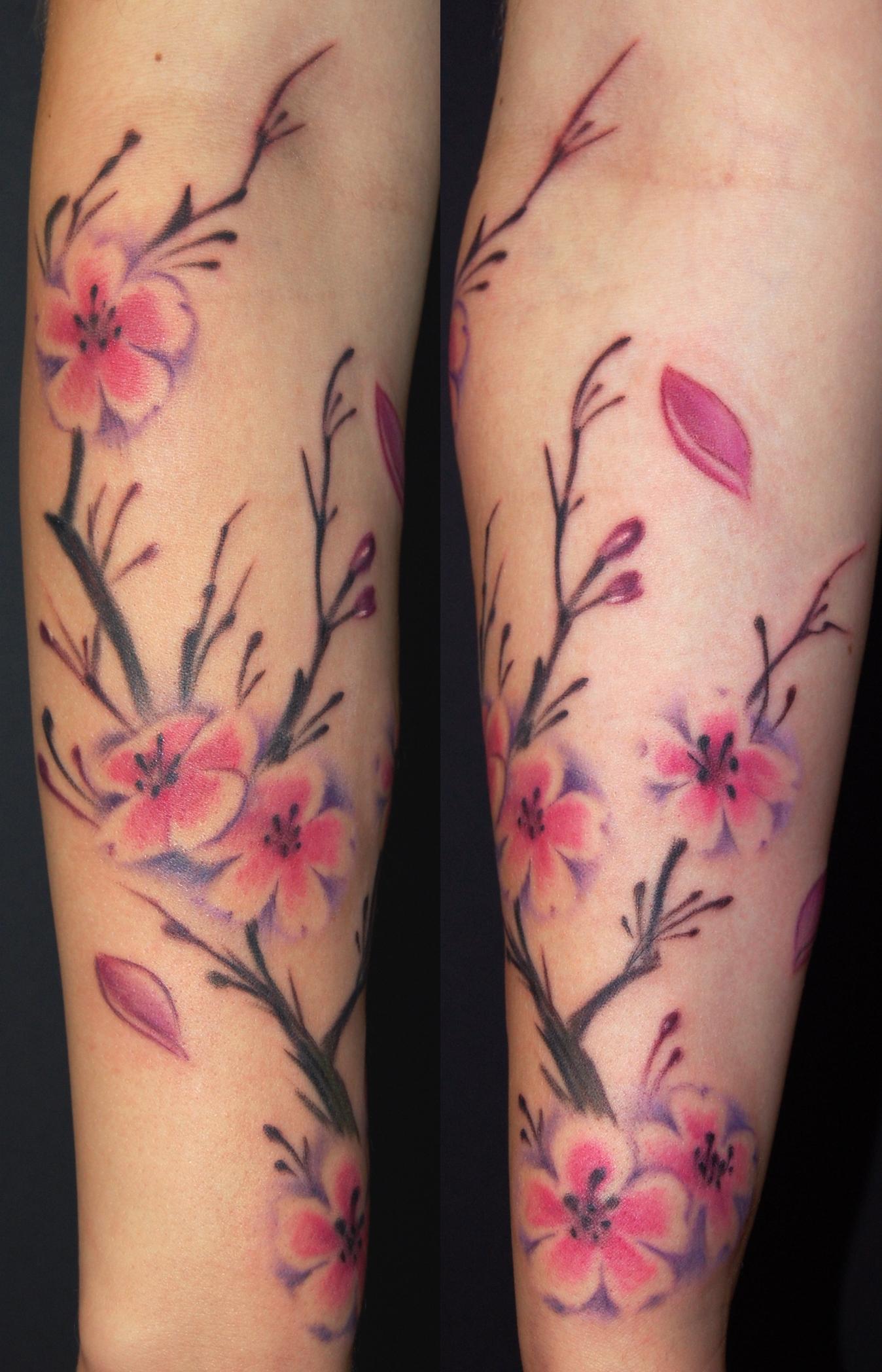 cherry blossom tattoos photo - 30