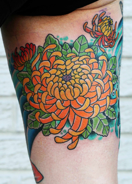 chrysanthemum tattoos photo - 1
