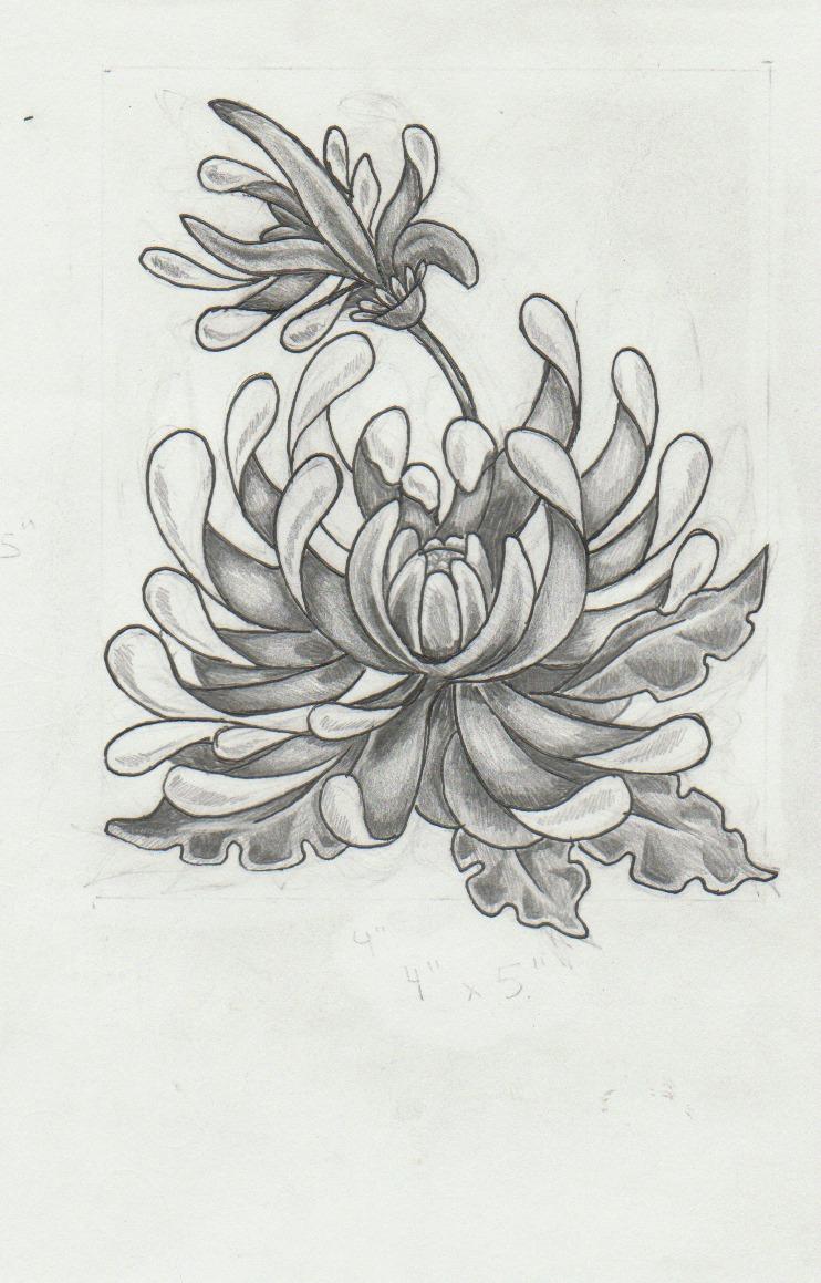 chrysanthemum tattoos photo - 11
