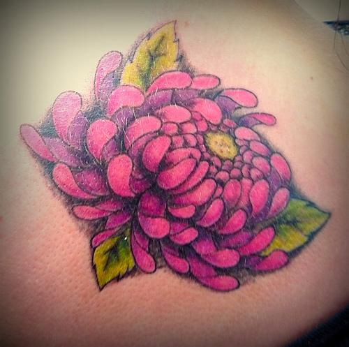 chrysanthemum tattoos photo - 12