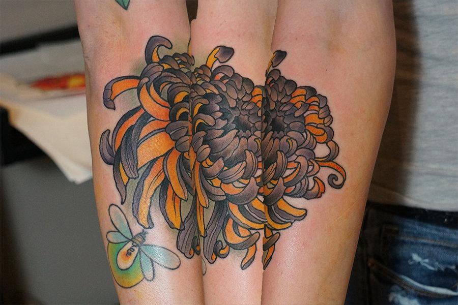 chrysanthemum tattoos photo - 14