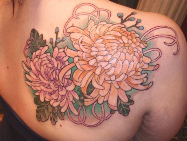 chrysanthemum tattoos photo - 15