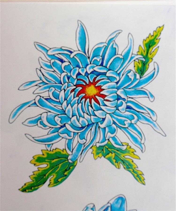 chrysanthemum tattoos photo - 16