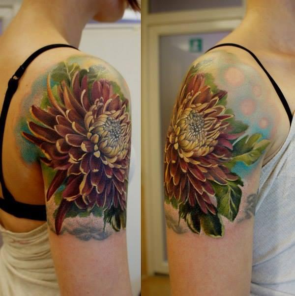 chrysanthemum tattoos photo - 18