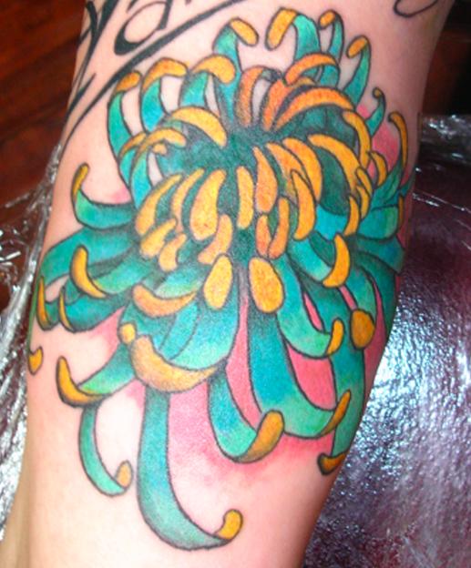 chrysanthemum tattoos photo - 20