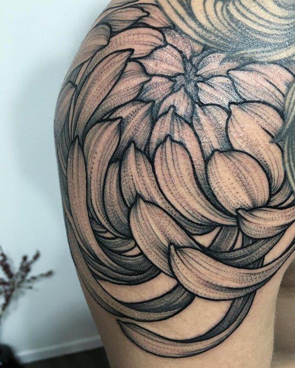 chrysanthemum tattoos photo - 21