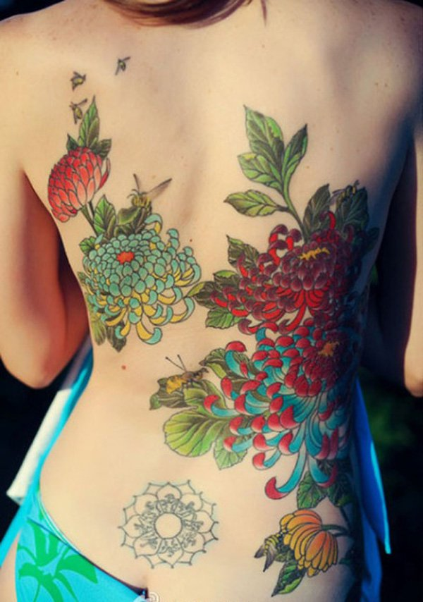 chrysanthemum tattoos photo - 23