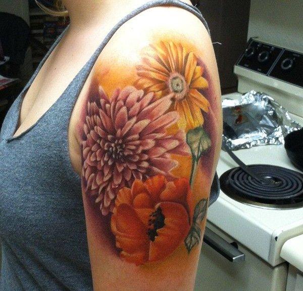 chrysanthemum tattoos photo - 24