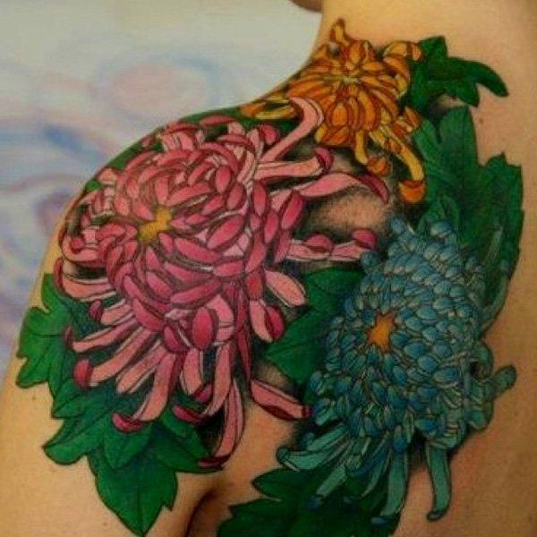 chrysanthemum tattoos photo - 25