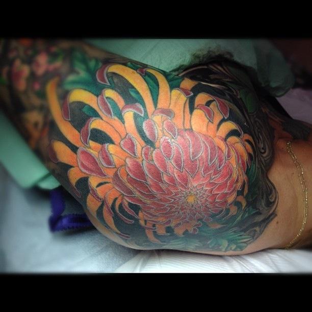chrysanthemum tattoos photo - 26