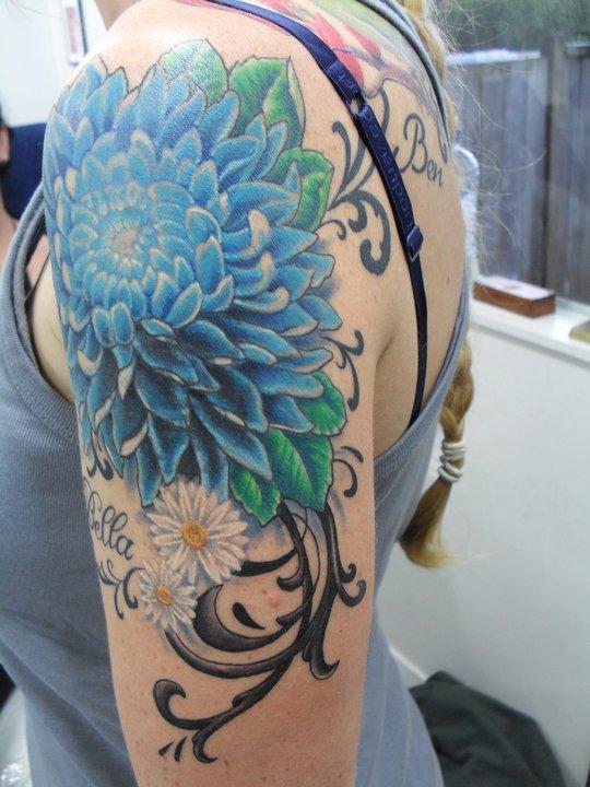 chrysanthemum tattoos photo - 27