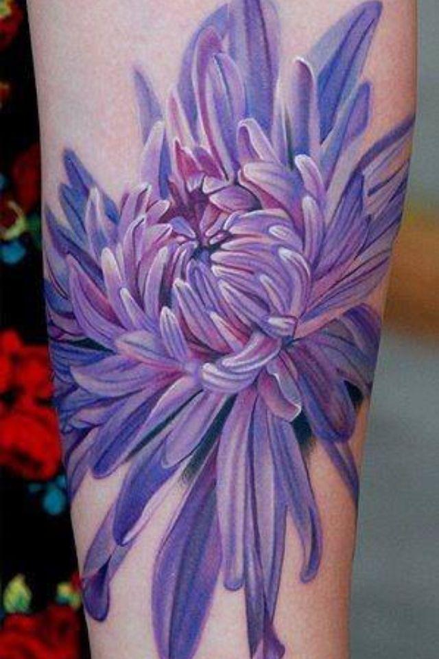 chrysanthemum tattoos photo - 28