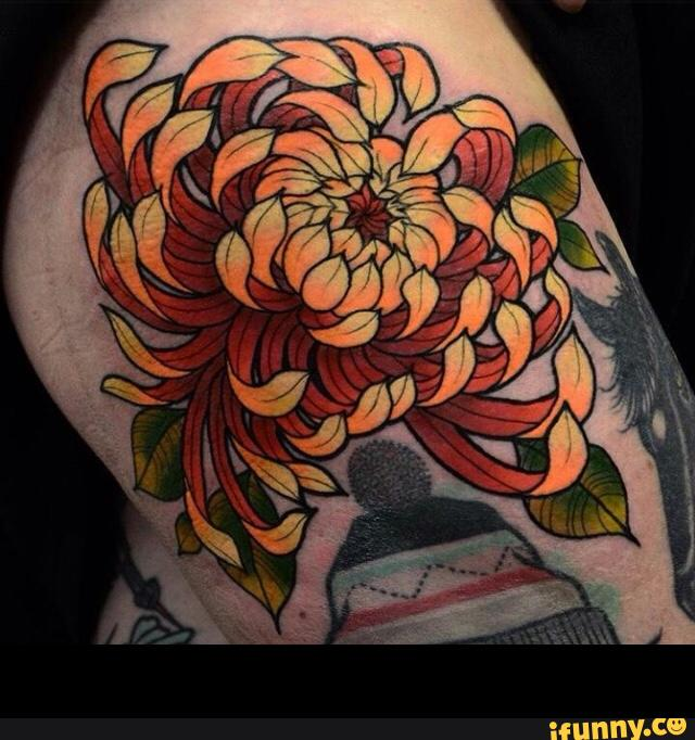 chrysanthemum tattoos photo - 29