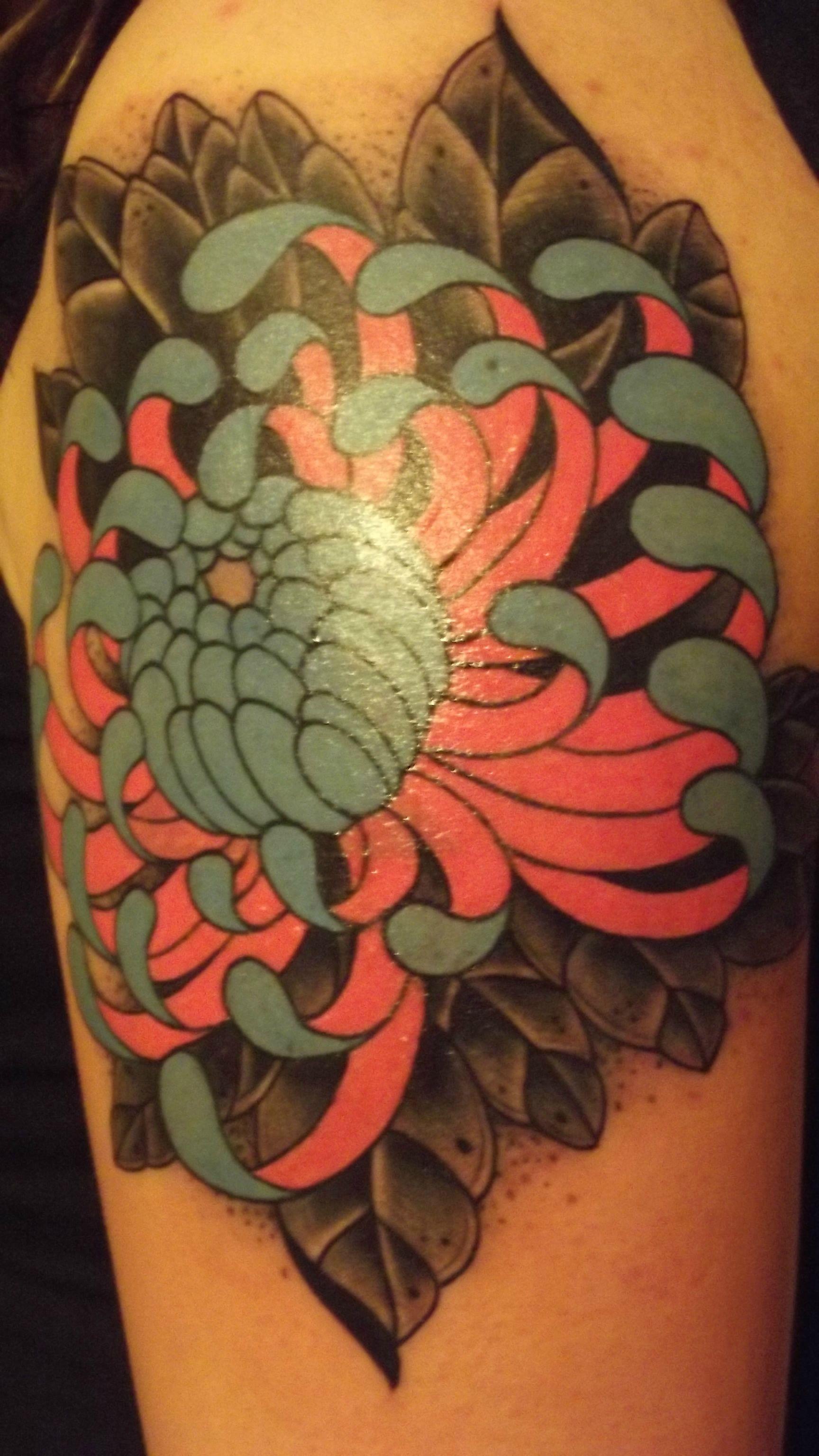 chrysanthemum tattoos photo - 30