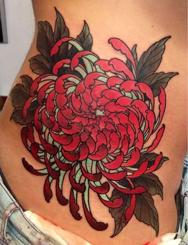 chrysanthemum tattoos photo - 6