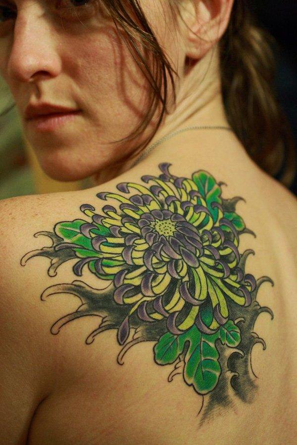 chrysanthemum tattoos photo - 7