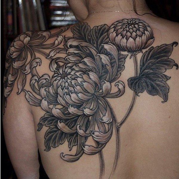 chrysanthemum tattoos photo - 9