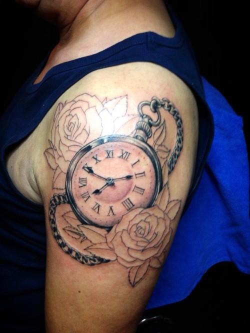 clock tattoos photo - 1