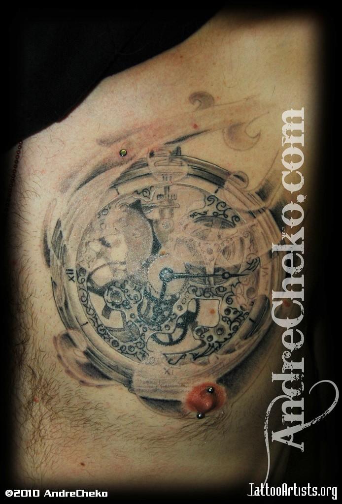 clock tattoos photo - 11