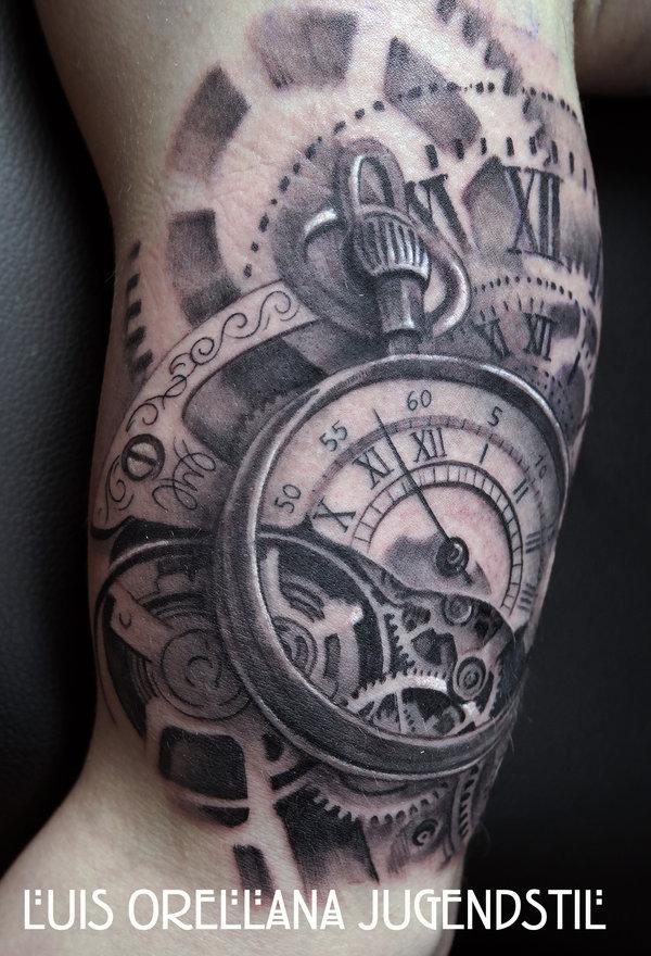 clock tattoos photo - 13