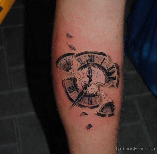 clock tattoos photo - 14