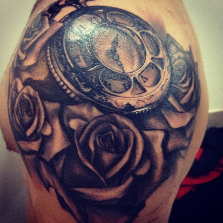 clock tattoos photo - 19