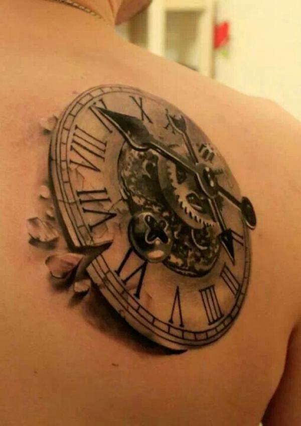 clock tattoos photo - 24