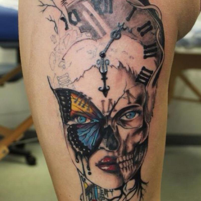 clock tattoos photo - 25