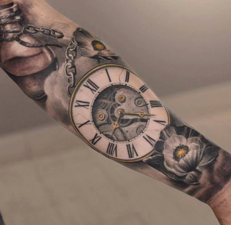 clock tattoos photo - 26