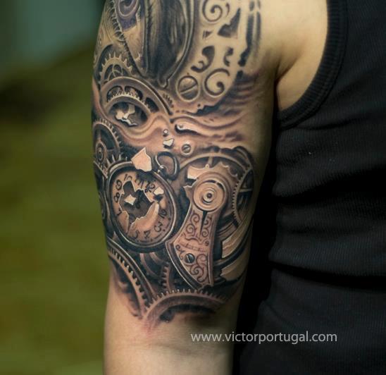 clock tattoos photo - 28