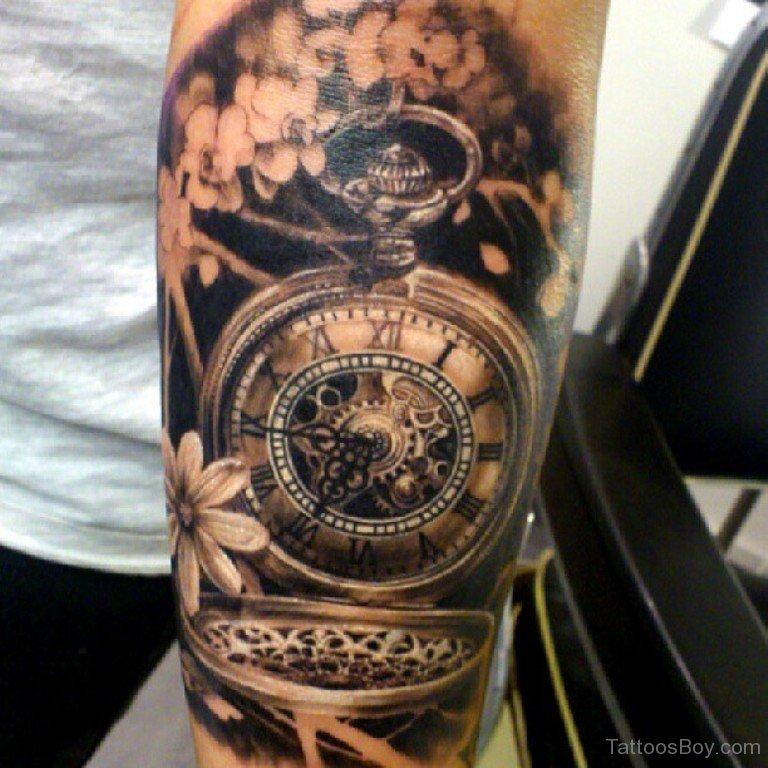 clock tattoos photo - 29