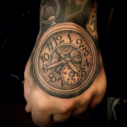 clock tattoos photo - 30
