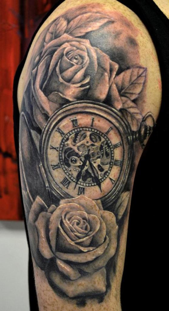 clock tattoos photo - 31