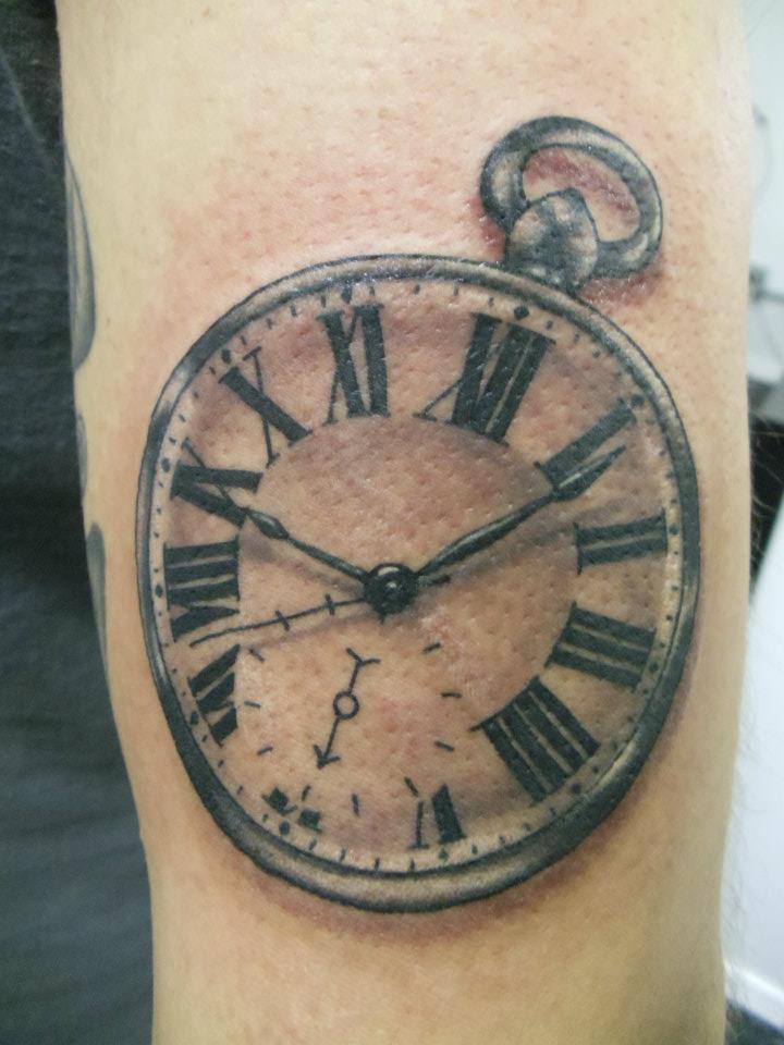clock tattoos photo - 33