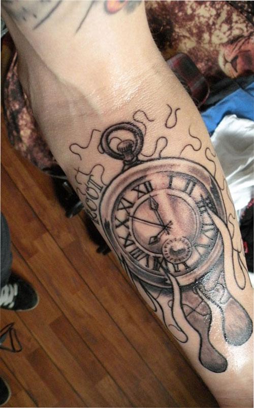 clock tattoos photo - 4