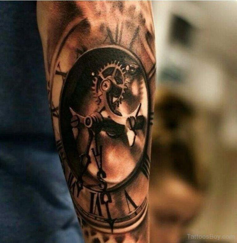 clock tattoos photo - 7