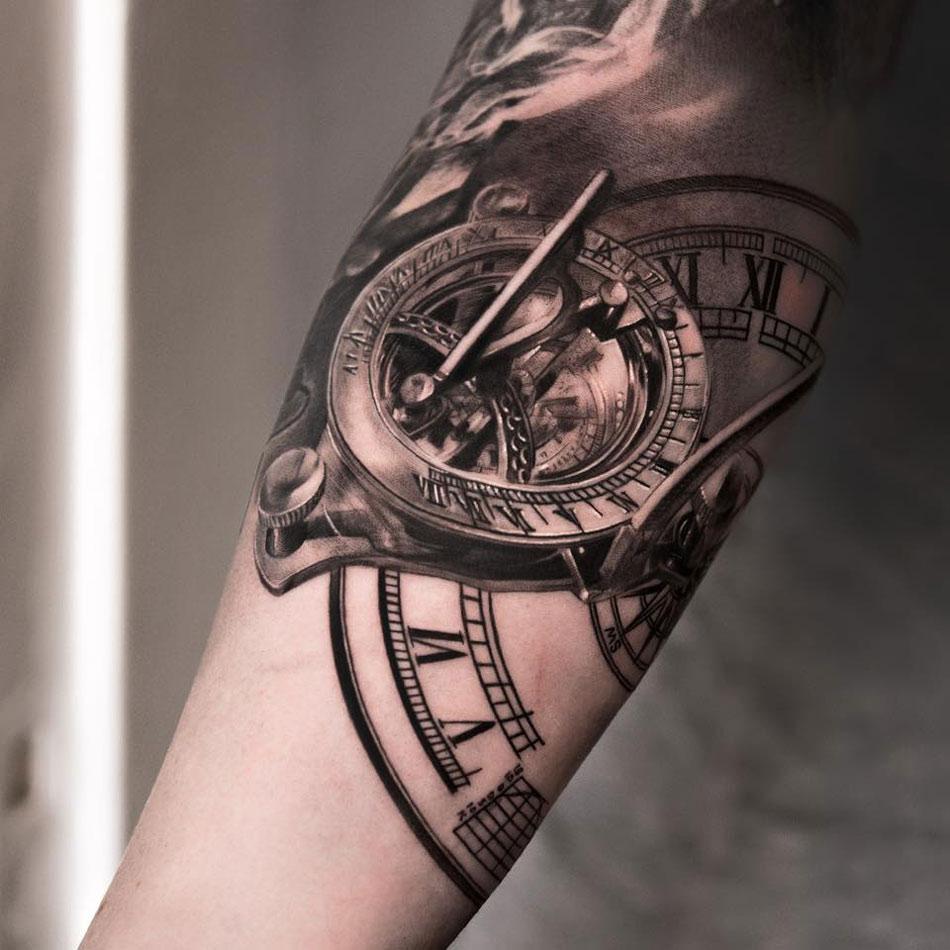 clock tattoos photo - 9