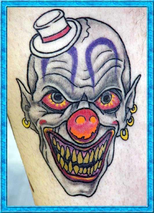 clown tattoos photo - 14