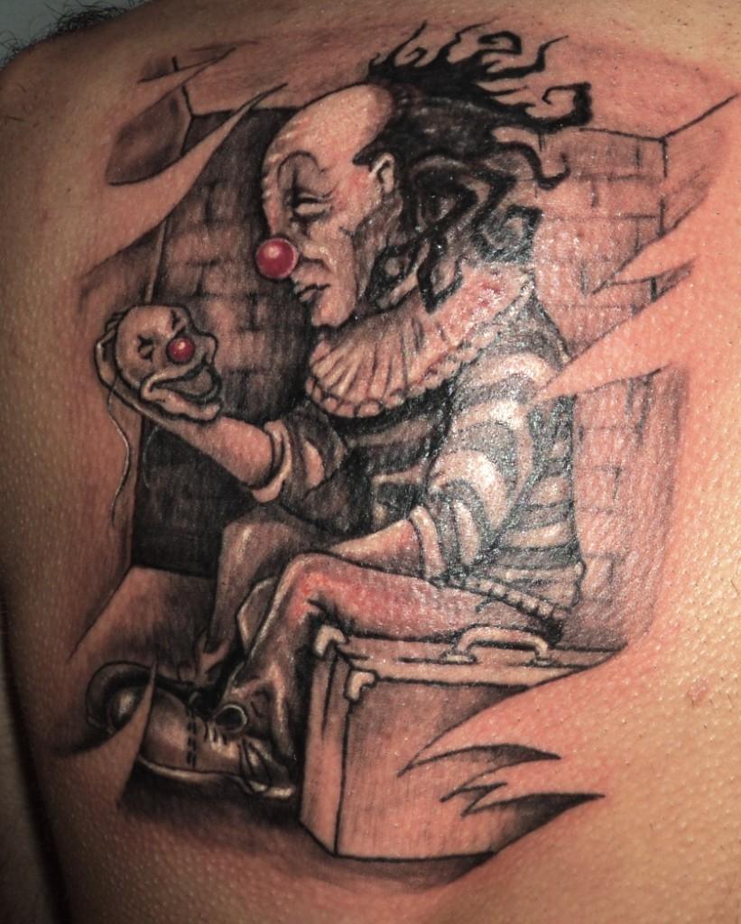 clown tattoos photo - 17